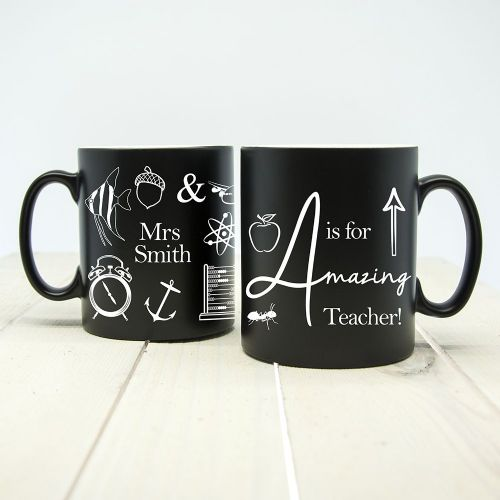 A is for Amazing Teacher Matte Coloured Mug (choice of colour)